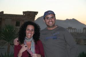 Con Aiman en las ruinas de Palmira. Siria, octubre de 2010.