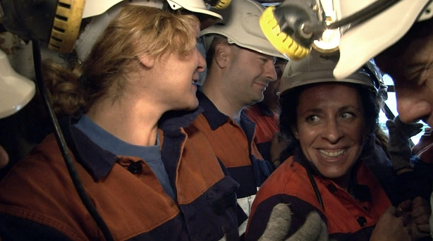 Bajando a la mina en 'la jaula'