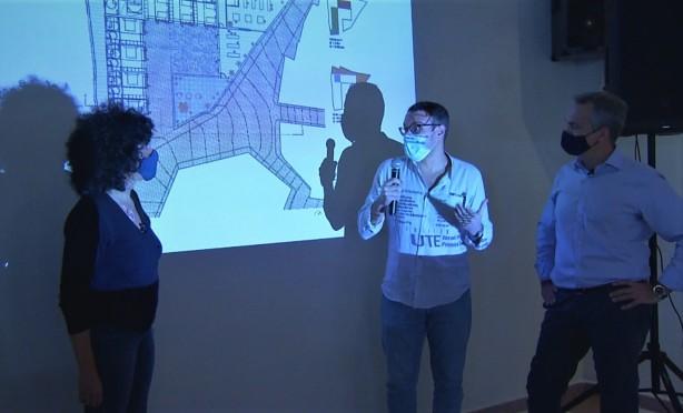Con Iván e Israel Alba, arquitectos ganadores del concurso. Foto: Dani Galindo